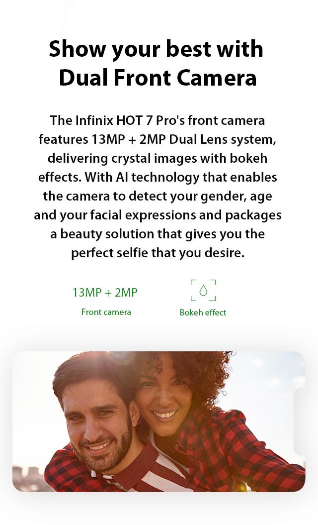 Infinix Hot 7 Pro Dual Front Camera
