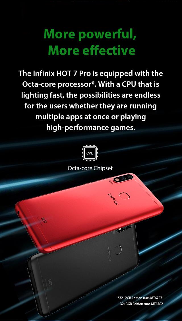 Infinix Hot 7 Pro Double Processor